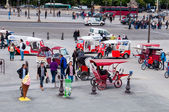 Rickshaws at Place de la Concorde, Paris, France — Stock Photo