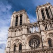 Two towers of Notre Dame cathedral in Paris, France — Stock Photo #26951023