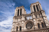 Two towers of Notre Dame cathedral in Paris, France — Stock Photo