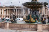 Place de la Concorde fountain, Paris, France — Stock Photo