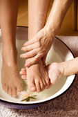 Foot massage — 图库照片