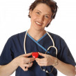 Nurse with Heart — Stock Photo #12363871