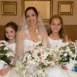 Stock Photo: Bride and daughters