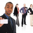 Business Card Team — Stock Photo