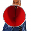 Red Megaphone — Stock Photo #12419929
