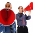 Red Megaphone Team — Stock Photo
