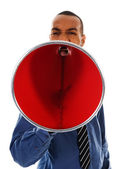 Red Megaphone — Stock Photo