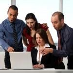 equipo empresarios — Foto de Stock