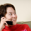 On the phone — Stockfoto