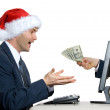 Internet e-commerce at x-mas time in office — Stock Photo #12422549