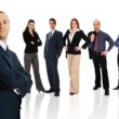 Businessman with Team — Stock Photo #12423074