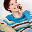 On the phone — Stock Photo