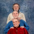 Granfather, father and son — Stock Photo