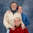 Granfather, father and son - Stock Photo