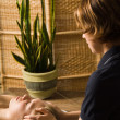 Massage therapist — Stock Photo #12424679