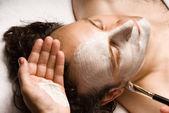 Tratamento facial — Foto Stock