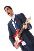 Singing man — Stock Photo