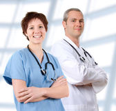Doctor in labcoat — Stock Photo