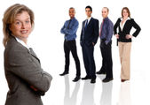 Businesswoman and Team — Stock Photo