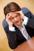 Mal di testa — Foto Stock