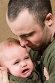 Huilende baby — Stockfoto