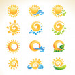 Set of sun icons — Stock Vector #12130322