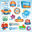 Set of travel labels and stickers — стоковый вектор #12130489