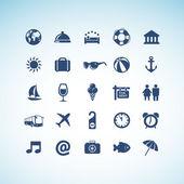 набор иконок, путешествия — Cтоковый вектор