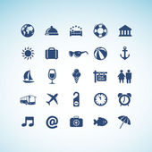 Sada ikon, cestování — Stock vektor