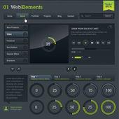 Conjunto de elementos web — Vector de stock