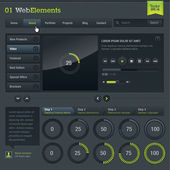 Set of web elements — Stock vektor