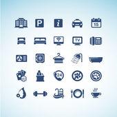 Conjunto de iconos hotel — Vector de stock