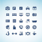 Set of hotel icons — Stockvector