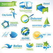 Set di icone di viaggio — Vettoriale Stock