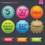 Conjunto de rótulos à venda — Vetorial Stock