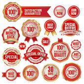 Küme iş rozetleri ve etiketler — Stok Vektör