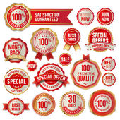 Set of business badges and stickers — Vecteur
