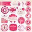 Set of cosmetics labels and badges — Stock Vector #12272220