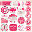 Stock Vector: Set of cosmetics labels and badges