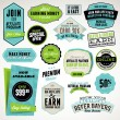 Set of badges and stickers - 