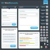 Set van webformulieren en knoppen — Stockvector