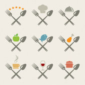 Set of restaurant icons — Stock Vector