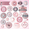 Cosmetics labels and badges — Stock Vector