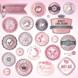Stock Vector: Cosmetics labels and badges
