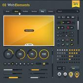 Set of web design elements — Stock Vector