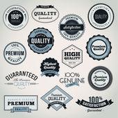 Conjunto de vectores etiquetas y placas — Vector de stock