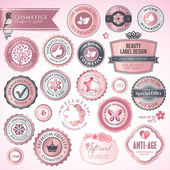 Cosmetics labels and badges — Vetorial Stock