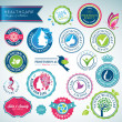 Royalty-Free Stock Vector Image: Set of health care badges and stickers