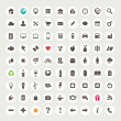 Set of web icons — Imagen vectorial