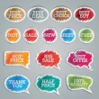 Set of colorful vector stickers - Imagens vectoriais em stock